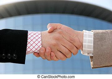 handshake, partnership