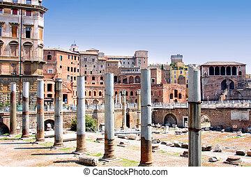 Trajan Forum, Rome, Italy - details column the Trajan Forum,...