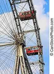 Details des Riesenrads im Prater, Wien - Giant Ferris Wheel...