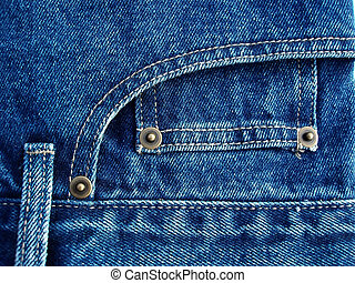 blue jeans - Details from blue jeans – a blue background