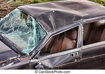Details of a crashed car