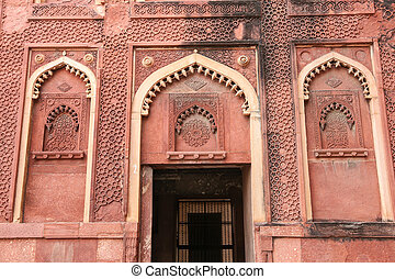 Details of a palace, Agra fort, India