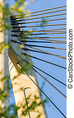 Details of a rope bridge