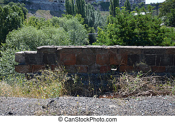 Details of a ruined bridge