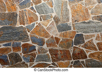 Details of a stone wall