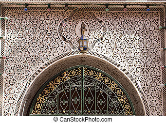 Details of a traditional gate, Morocco