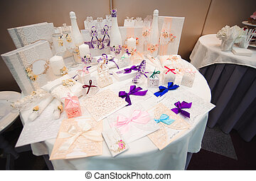 Details of a wedding banquet. Wedding ceremony decoration, beautiful wedding decor, flowers