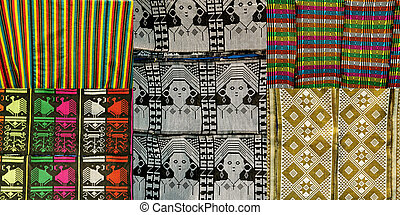details of african cloth with rich pattern from...