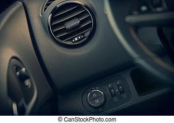Details of air conditioning and controls of modern car