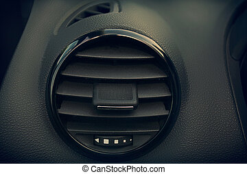 Details of air conditioning in modern car
