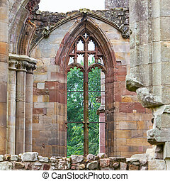 Details of an forgotten old Scottish Abbey, ruin