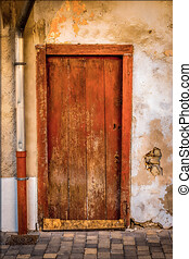 Details of an old and abandoned door, Old doors concept