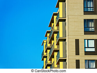 Details of Apartment house home residential building complex real estate
