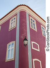 Details of classic Portuguese house. Close-up.
