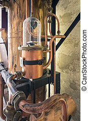 Details of copper tools used to distil schnapps.