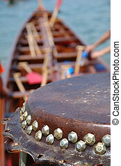 Details of drum on dargon boat