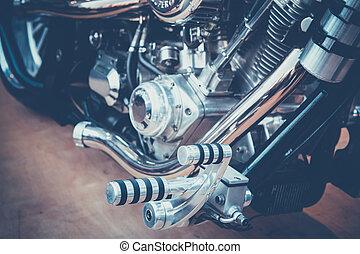 pegs - Details of foot pegs motorcycle