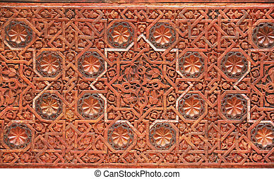 Interior of Alhambra Palace, Granada, Spain - Details of ...
