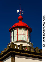 details of lighthouse in azores