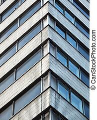 details of  modern office building windows