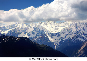 Swiss Alps, Verbier, Switzerland - details of Mountain...
