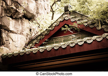 Details of old chinese house roof