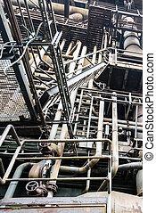 Details of old industry buildings at the Landschaftspark...