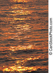 sea water texture at sunset