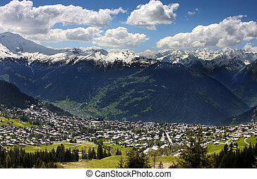 Verbier, Switzerland - details of skiing resort, Swiss Alps,...