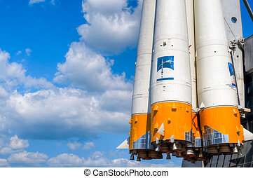 space rocket engine - details of space rocket engine against...