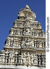 Details of Temple Tower - View of details on Yoganarasimha...