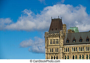 Details of the architecture of the Canadian Parliament