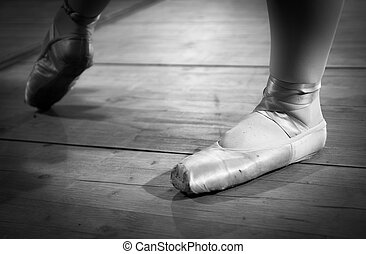 Details of the ballet shoes