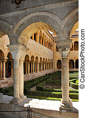 Details of the columns of the famous Monastery of Silos in Spain