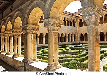 Details of the columns of the famous Monastery of Silos in...