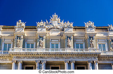 Details of the Doge's Palace in Genoa - Italy