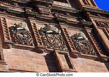 details of the famous Catholic cathedral in Astorga, Spain