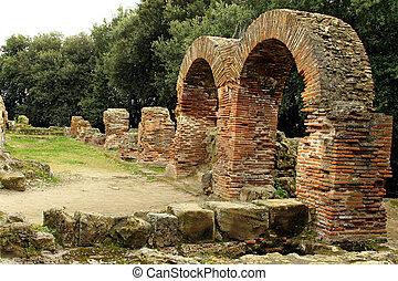Details Of The Old Ruins At Cumae (Cuma), Naples