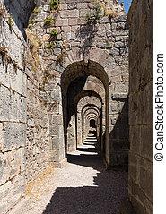 Details of the old ruins at Pergamum