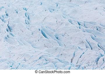 details of Vatnajokull glacier surface with crevasses