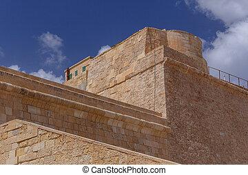 Details of Walls at Fort St. Elmo
