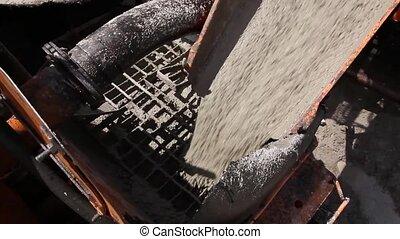 Detail's on concrete mixer.