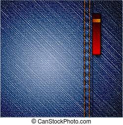 detalhado, calças brim azuis, texture., vetorial