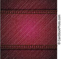 detalhado, cor-de-rosa, calças brim, texture., vetorial