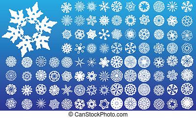 detalhado, jogo, snowflakes., altamente, complexo, 97