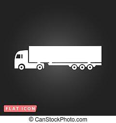 detalhado, silhuetas, vetorial, caminhões