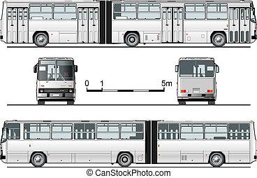 detalhado, urbano, autocarro