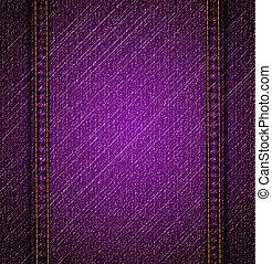 detalhado, violeta, calças brim, texture., vetorial