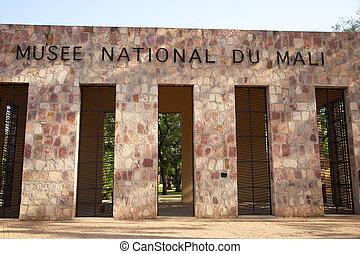 detalhe, de, a, museu nacional, de, mali