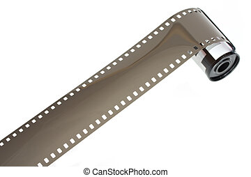 detalhe, de, um, película 35mm, com, cartucho